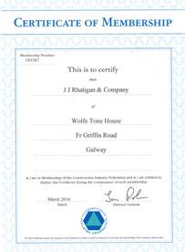 JJ Rhatigan CIF Certification 2016