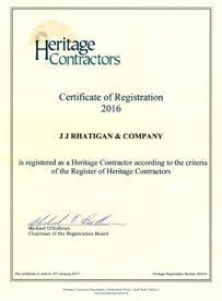 JJ Rhatigan Heritage Certification 2016