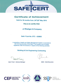 JJ Rhatigan Safety Certification 2016