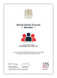 British Safety Council Certificate of Membership