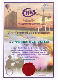 JJ Rhatigan CHAS Certification 2016