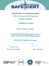 JJ Rhatigan Safety Certification 2016
